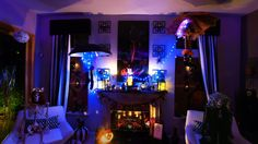 Pano of the fireplace at the Crossbones Inn 2014.