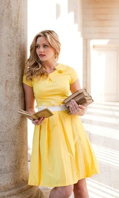 Correct me if I'm wrong, but this dress is absolutely beautiful. I do feel that it has its limitations, as it is quite a summery yellow, but here in South Carolina, the summer is long and lovely, and I would wear this dress as many opportunities I could get!