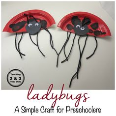 ladybug craft for preschoolers - adds some counting, too!