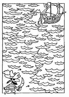 Help de piraat naar zijn schip (werkblad).gif 426×600 pixels