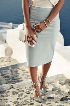 Light Blue Leather Midi Skirt  # #The Fierce Diaries #Fall Trends #Fashionistas #Best Of Fall Apparel #Midi Skirt Leather #Leather Midi Skirts #Leather Midi Skirt Light Blue #Leather Midi Skirt Clothing #Leather Midi Skirt 2014 #Leather Midi Skirt Outfits #Leather Midi Skirt How To Style