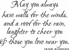 Irish Blessing/I like this. I have a guest area decorated in Irish and this would go very nicely.