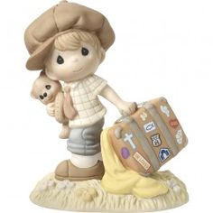"""He Lightens My Heavy Load"", Bisque Porcelain Figurine"