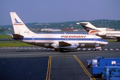 Piedmont Peninsula Pacemaker at LGA Piedmont Airlines, Commercial Aircraft, Airports, Jets, Airplanes, Alaska, Apron, Aviation, Hawaii