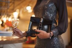 Loved Equis Wear 3 Wat Clutch bag worn as a clutch in patent black leather Oxblood, Oscars, Deep Purple, Clutch Bag, Leather Backpack, Eve, Red Carpet, Black Leather, Glamour