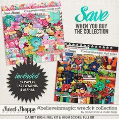 Wreck it Ralph Inspired, Digital Scrapbooking: #believeinmagic:  Wreck It Kit Bundle