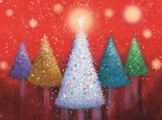 Charity-Christmas-Cards-Vibrant-Trees-Pack-10