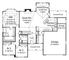 Ranch Traditional House Plan 95968 Level One