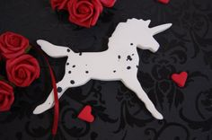 Stunning dappled appaloosa polymer clay unicorn by albertinebelle, £5.30