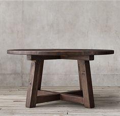 Salvaged Wood Beam Round Dining Table