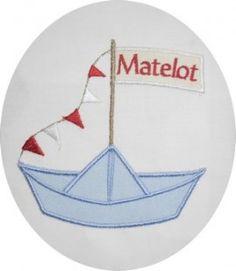 Motif de broderie bateau appliqué : Broderie par alicebroderie sur ALittleMercerie