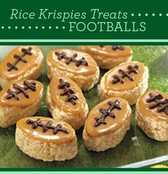 Rice Krispies Treats Footballs