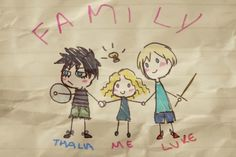 family luke thalia grace annabeth chase percy jackson luke ...
