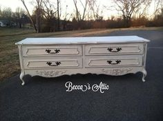 Shabby~Chic French Provincial Low Dresser