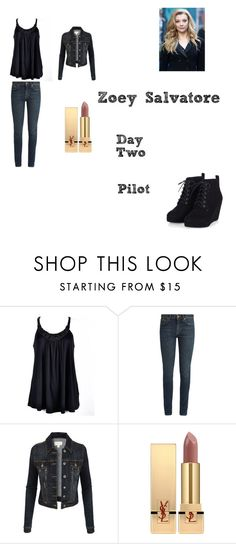 """""""Zoey Salvatore Worlds Colliding (The Vampire Diaries) 1.01 """"Pilot"""""""" by jdefloria on Polyvore featuring Ally Fashion, Yves Saint Laurent and LE3NO"""