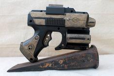 Steampunk Nerf Gun Strikefire Blaster, Post Apocalyptic, Zombie, Vampire, Sci-Fi, LARP, Cosplay Role Play, Custom Hand Painted Prop Weapon
