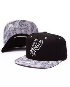 Mitchell   Ness - San Antonio Spurs Team Color Stroke Camo Snapback Hat 3533a7adf88