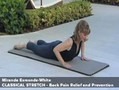 Back Pain Relief and Prevention with Miranda Esmonde-White Miranda Esmonde White, Back Pain Remedies, Aging Backwards, Tight Hip Flexors, Psoas Muscle, Easy Yoga Poses, Restorative Yoga, Stubborn Belly Fat, Back Pain Relief