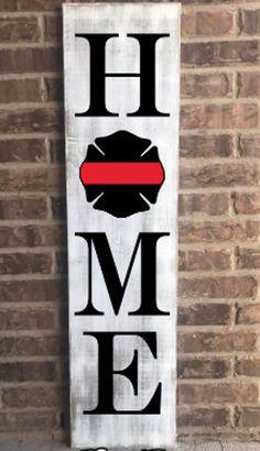 Wood Crafts, Diy Crafts, Wood Craft Patterns, Firefighter Decor, Front Porch Signs, Porch Furniture, Furniture Update, Home Porch, Pallet Signs