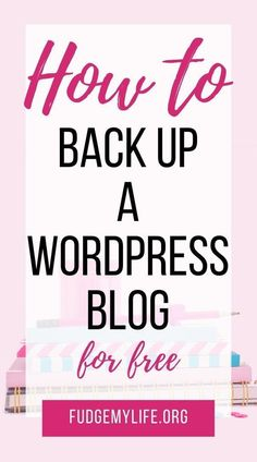 WordPress for beginners: learn how to automatically back up your WordPress site with UpdraftPlus. A simple plugin can keep your Wordpress For Beginners, Learn Wordpress, Site Wordpress, Wordpress Website Design, Wordpress Plugins, Blogging For Beginners, Wordpress Admin, Admin Login, Wordpress Template