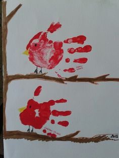 Les oiseaux mains yoan 4ans et gaëtan 15mois Rooster, Animals, Hands, Advent Calenders, Crafting, Animales, Animaux, Animal, Animais