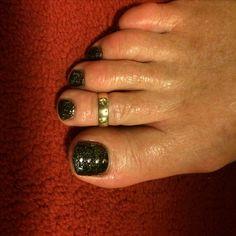 Diamond black with metal studs
