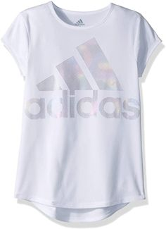 adidas Kids Womens Replenishment Rainbow Foil Tee (Big Kids)** You can find more details by visiting the image link. (This is an affiliate link) Girls Summer Outfits, Cute Girl Outfits, Cute Outfits For Kids, Summer Clothes, Tee T Shirt, Adidas Kids, Adidas Shirt, Graphic Shirts, Shirts For Girls