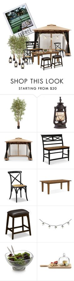 summer dining essentials by valuecityfurn on Polyvore featuring interior, interiors, interior design, home, home decor, interior decorating, Nambé, LSA International and Nearly Natural