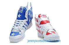 By Womens Jeremy Scott JS Wings 2.0 Flag Adidas Shoes 2012