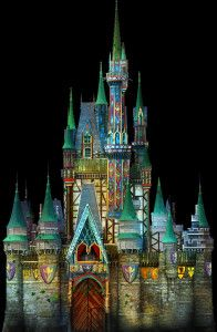 Cinderella Castle to Transform into Arendelle for 'Celebrate the Magic' - http://www.rotoscopers.com/2013/11/15/cinderella-castle-to-transform-into-arendelle-for-celebrate-the-magic/