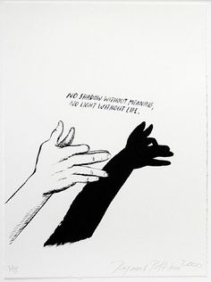 Raymond Pettibon, Untitled (No Shadow without Meaning...),from Plots on Loan I