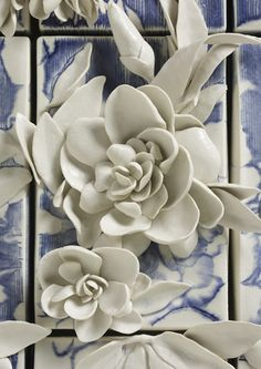 Floral Still Life detail from Sculpture by Giselle Hicks