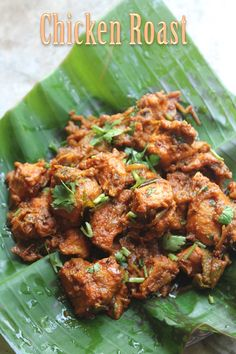 Chicken Roast Recipe - Kerala Style Chicken Roast Recipe - Y.- This is one chicken dish which i have been planning to make for a very long time.Couple days back i made it and it was spot on. Fried Fish Recipes, Roast Recipes, Veg Recipes, Curry Recipes, Indian Food Recipes, Asian Recipes, Vegetarian Recipes, Cooking Recipes, Recipies