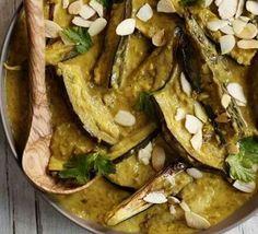 Aubergine & coconut curry