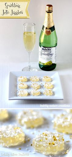Sparkling Jello Jigglers ⋆ Easy New Years Eve Dessert ⋆ Sprinkle Some Fun - - These sparkling Jello Jigglers are so fun to make for a new years eve party! Nouvel An Original, Holiday Treats, Holiday Recipes, Holiday Parties, Dessert Nouvel An, New Years Eve Dessert, New Years Eve Food, New Years Dinner, New Years Eve Drinks