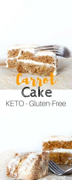 Keto Carrot Cake with Cream Cheese Frosting - This Carrot cake is not only a better low carb alternative for you, but is also a very delicious one.