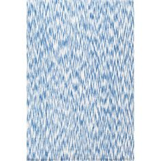 Dash and Albert Rugs Ikat Chenille Blue/White Area Rug