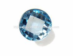 Top Quality Blue Topaz Round Shape Fancy Cut Natual Loose Gemstone