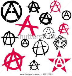 stock vector : Set of Anarchy symbol icon vector illustration