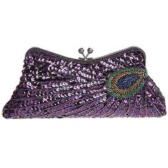 Fawziya Kiss Lock Sequin Clutch Purse Peacock Clutch Bag ** You can find more details by visiting the image link. (This is an Amazon Affiliate link)