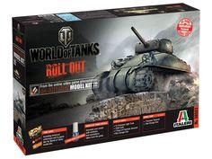 Model Italeri 36503 M4 Sherman World of Tanks, model do sklejania amerykańskiego czołgu Sherman M4 z okresu WWII.