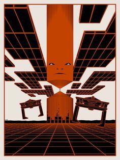 """""""End of Line"""" by Matt Ferguson — """"Tron"""" inspired print"""