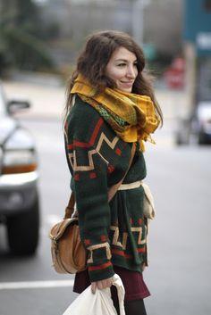 Doree Desberg vintage wrap sweater