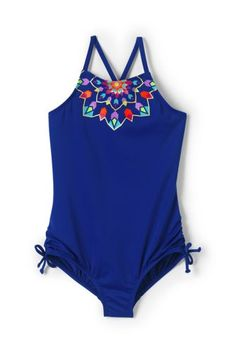 Try our Girls High-neck Graphic One Piece Swimsuit at Lands' End. Everything we sell is Guaranteed. Period.® Since 1963.