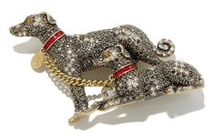 "Heidi Daus ""Handsome Hounds"" Pavé Crystal Pin - A woman's best friend + her favorite jewelry designer = the perfect pin. These Handsome Hounds light up your look with sparkling crystals and a fun, feel-good design."