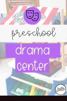 The Dramatic Play Center in a preschool classroom is a place for children to pretend, use imaginations and work with peers. See what is inside my Drama Center. Preschool Centers, Preschool Classroom, Preschool Activities, Play Based Learning, Learning Centers, Dress Up Area, Classroom Organization, Organization Ideas, Home Themes