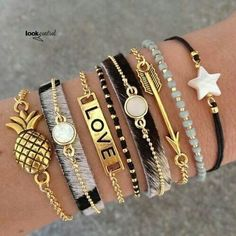 Jewerly Bracelets Bangles Awesome For 2019 Cute Jewelry, Jewelry Bracelets, Jewelry Accessories, Fashion Accessories, Fashion Jewelry, Pandora Bracelets, Men's Jewelry, Bracelet Set, Trendy Bracelets