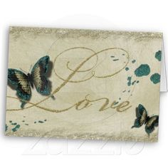 Butterfly Love Quote Greeting Cards