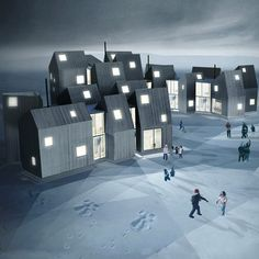Norwegian studio Fantastic Norway have designed a series of interconnected homes for disadvantaged women and children in Nuuk, Greenland. Called House of Families, the scheme features a cluster of dwellings that are connected to each other by communal living areas, playrooms, kitchens and meeting places. The project forms part of a larger development of the city …