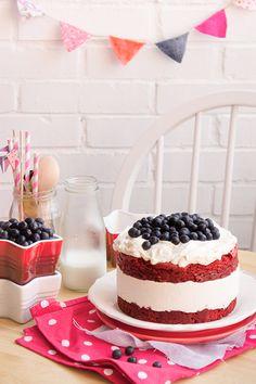 Pastel helado de Red Velvet